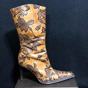 Andrew Stevens Floral Embossed Boots